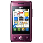 LG T300 Cookie Lite Wine Red