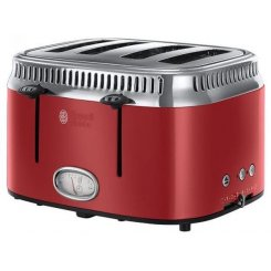 Russell Hobbs 21690-56 Retro 4 Slices Ribbon Red