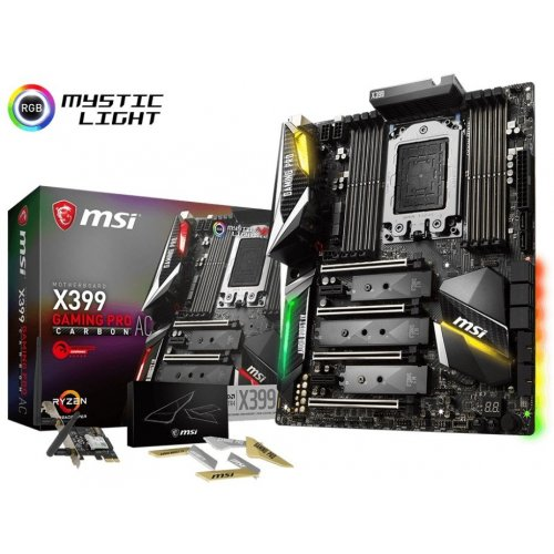 Материнская плата MSI X399 GAMING PRO CARBON AC (sTR4, AMD X399)