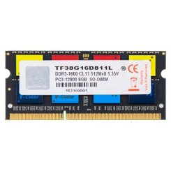 V-COLOR SODIMM DDR3 8GB 1600Mhz (TF38G16D811L)