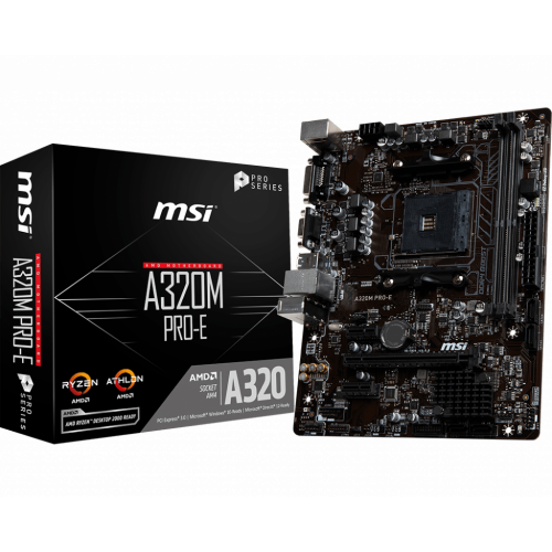 Фото Материнская плата MSI A320M PRO-E (sAM4, AMD A320)