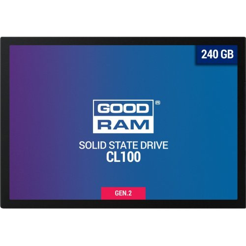Фото SSD-диск GoodRAM CL100 Gen.2 TLC 240GB 2.5'' (SSDPR-CL100-240-G2)