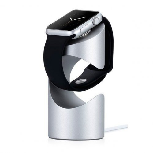 Фото Док-станция Just Mobile TimeStand для Apple Watch Silver