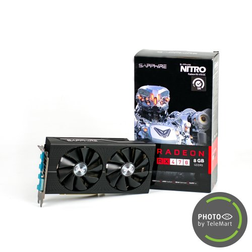 Фото Видеокарта Sapphire Radeon RX 470 NITRO OC 8192MB (11256-17-20G SR) Seller Recertified