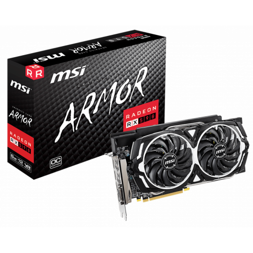 Фото Відеокарта MSI Radeon RX 590 ARMOR OC 8192MB (RX 590 ARMOR 8G OC)