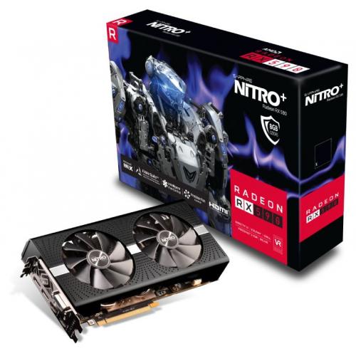 Фото Видеокарта Sapphire Radeon RX 590 NITRO+ OC 8192MB (11289-05-20G)