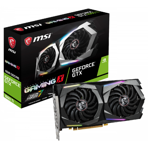 Фото MSI GeForce GTX 1660 Ti Gaming X 6144MB (GTX 1660 TI GAMING X 6G)
