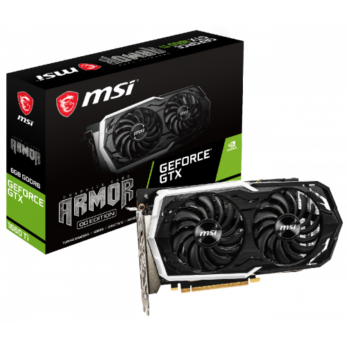 Фото Видеокарта MSI GeForce GTX 1660 Ti ARMOR OC 6144MB (GTX 1660 TI ARMOR 6G OC)