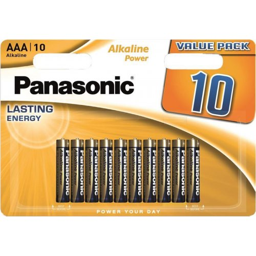 Фото Батарейки Panasonic AAA (LR03) Alkaline Power 10 шт. (LR03REB/10BW)