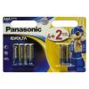 Фото Батарейки Panasonic AAA (LR03) Evolta 6 шт. (LR03EGE/6B2F)