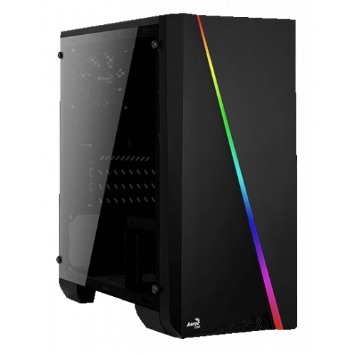 Фото Корпус Aerocool PGS Cylon Mini BG RGB Window Tempered Glass без БП Black