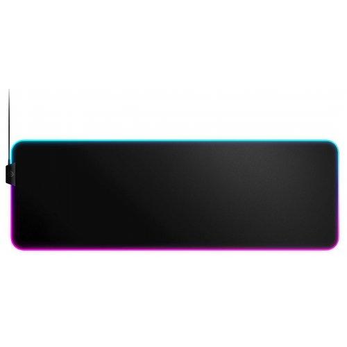 Фото Коврик для мышки SteelSeries QcK Prism RGB Cloth XL (63826) Black