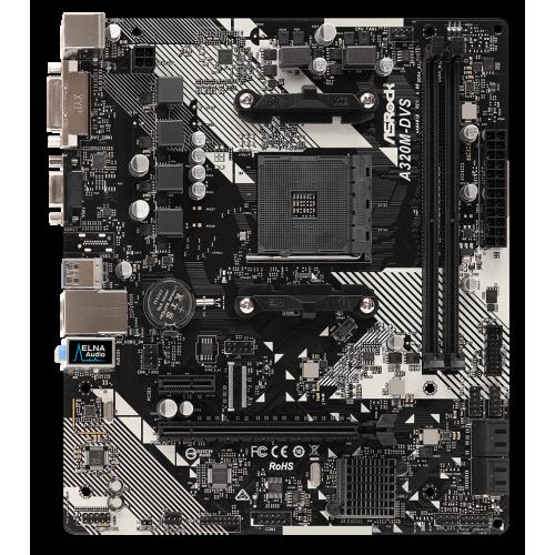 Фото AsRock A320M-DVS R4.0 (sAM4, AMD A320)