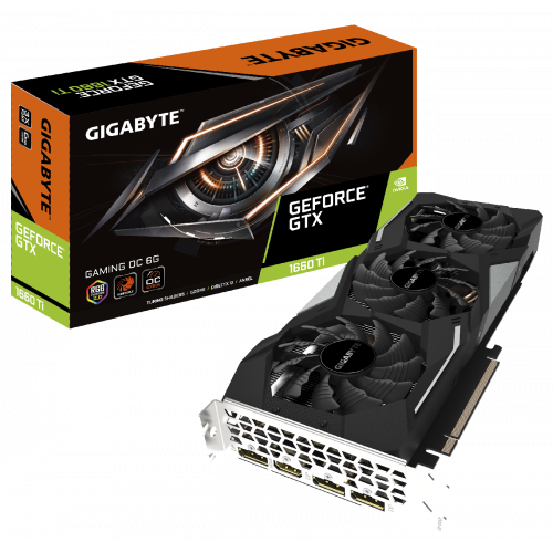 Фото Видеокарта Gigabyte GeForce GTX 1660 Ti Gaming OC 6144MB (GV-N166TGAMING OC-6GD)