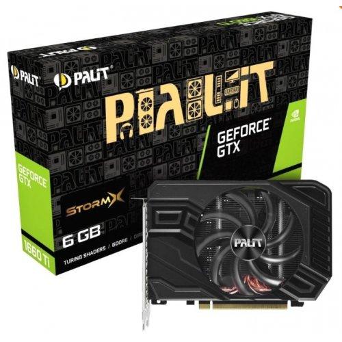 Фото Видеокарта Palit GeForce GTX 1660 Ti StormX 6144MB (NE6166T018J9-161F)