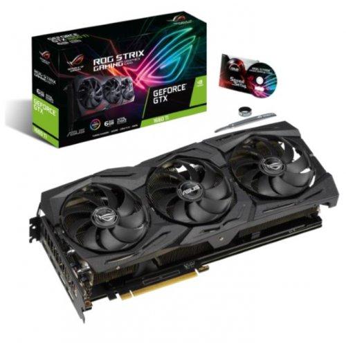 Фото Видеокарта Asus ROG GeForce GTX 1660 Ti STRIX 6144MB (ROG-STRIX-GTX1660TI-6G-GAMING)