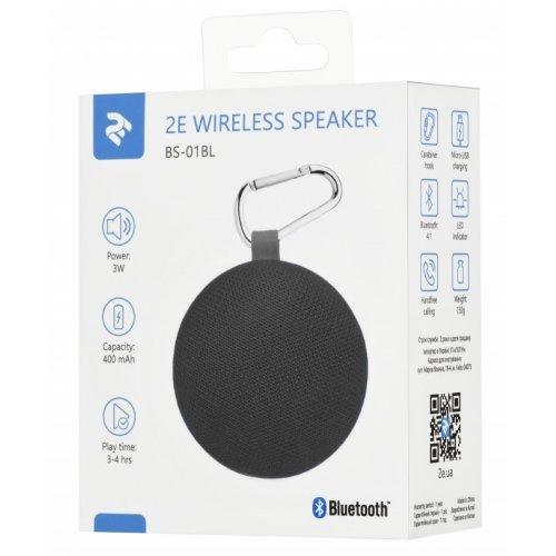Фото Портативная акустика 2E BS-01 Compact Wireless (2E-BS-01-BLACK) Black