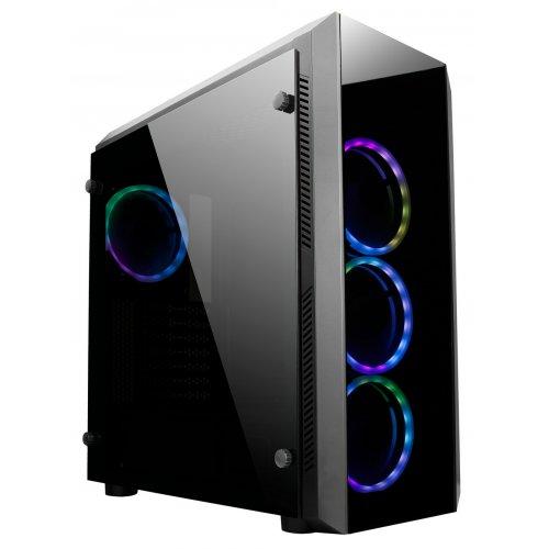 Фото Корпус CHIEFTEC Scorpion II Tempered Glass Edition RGB без БП (GL-02B-OP) Black