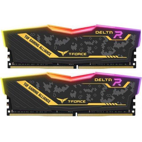 Фото ОЗУ Team DDR4 16GB (2x8GB) 3200Mhz DELTA TUF Gaming RGB (TF9D416G3200HC16CDC01)