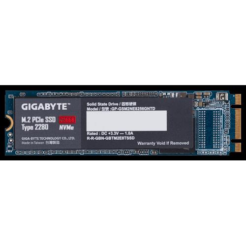 Фото SSD-диск Gigabyte 256GB M.2 (2280 PCI-E) NVMe 1.3 (GP-GSM2NE8256GNTD)