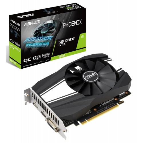 Фото Видеокарта Asus GeForce GTX 1660 Phoenix OC 6144MB (PH-GTX1660-O6G)