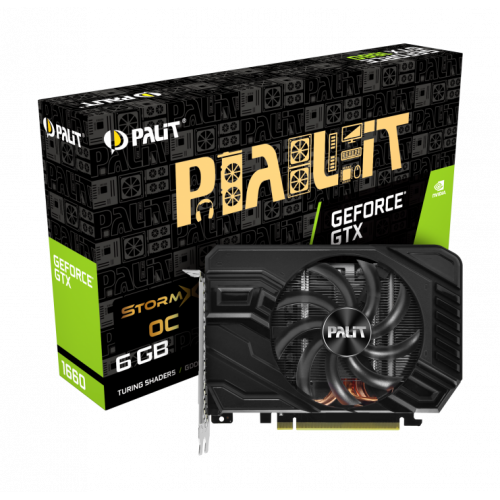 Фото Видеокарта Palit GeForce GTX 1660 StormX OC 6144MB (NE51660S18J9-165F)