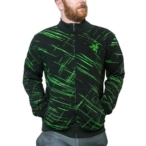 Фото Олимпийка Razer TEMPEST TRACK Jacket Men S (RGS6M09S3F-08-04SM) Black/Green