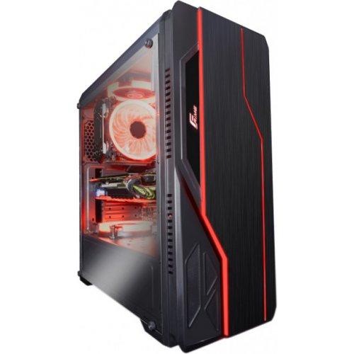 Фото Корпус Frime Redline Red LED без БП (Redline-U3-2RF-WP) Black