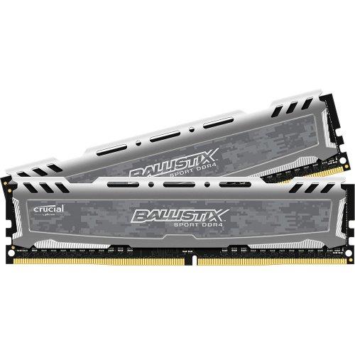 Фото ОЗУ Crucial DDR4 16GB (2x8GB) 3200Mhz Ballistix Sport LT Gray (BLS2K8G4D32AESBK)