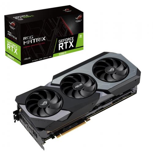 Фото Видеокарта Asus ROG GeForce 2080 Ti Matrix 11264MB (ROG-MATRIX-RTX2080TI-P11G-GAMING)