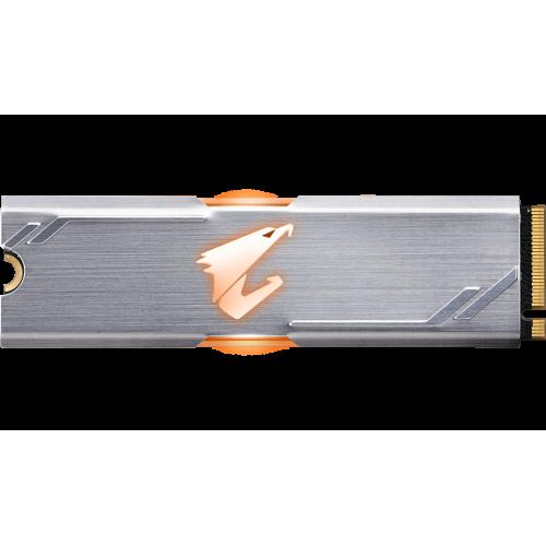 Фото SSD-диск Gigabyte AORUS RGB 3D NAND TLC 512GB M.2 (2280 PCI-E) NVMe 1.3 (GP-ASM2NE2512GTTDR)