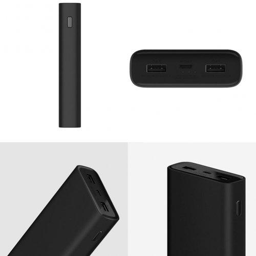 Фото Універсальний акумулятор Xiaomi Mi 3 Pro Power Bank 20000 mAh (VXN4245) Black