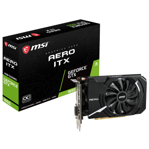 Фото Видеокарта MSI GeForce GTX 1650 ITX OC 4096MB (GTX 1650 AERO ITX 4G OC)