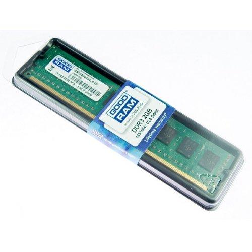 Фото ОЗУ GoodRAM DDR3 2GB 1333Mhz (GR1333D364L9/2G) 8Chip (Intel G41,G43,Q43,P43,Q45,P45,H55,H57,X58)