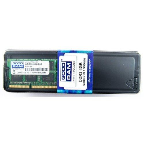 Фото ОЗУ GoodRAM SODIMM DDR3 4GB 1333Mhz (GR1333S364L9/4G)