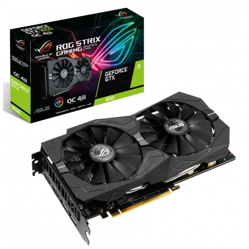 Фото Видеокарта Asus ROG GeForce GTX 1650 STRIX OC 4096MB (ROG-STRIX-GTX1650-O4G-GAMING)