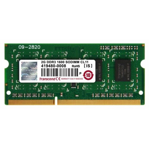 Фото ОЗУ Transcend SODIMM DDR3 2GB 1600Mhz (JM1600KSN-2G)