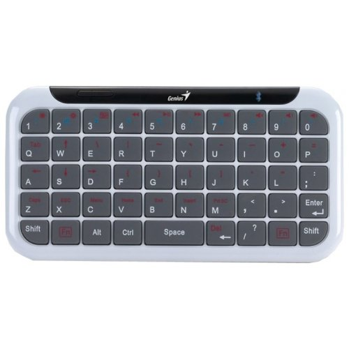 Фото Клавиатура Genius Mini LuxePad Bluetooth (31320009102) White/Grey