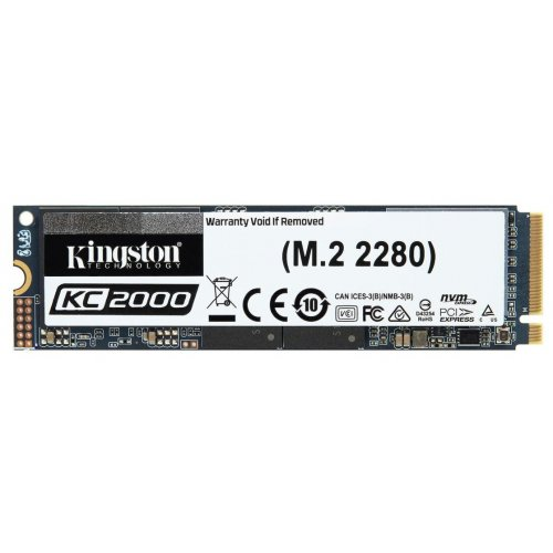 Фото SSD-диск Kingston KC2000 3D NAND TLC 250GB M.2 (2280 PCI-E) NVMe x4 (SKC2000M8/250G)