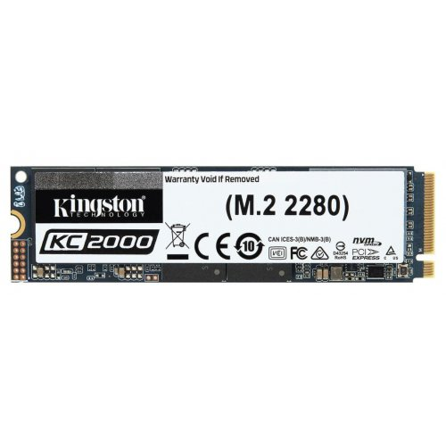 Фото Kingston KC2000 3D NAND TLC 500GB M.2 (2280 PCI-E) NVMe x4 (SKC2000M8/500G)