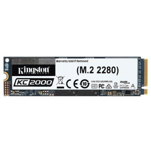 Фото Kingston KC2000 3D NAND TLC 2TB M.2 (2280 PCI-E) NVMe x4 (SKC2000M8/2000G)