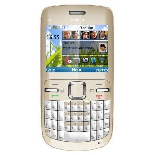 Фото Мобильный телефон Nokia C3-00 Golden White