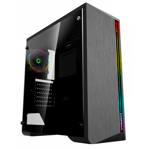 Фото Корпус GAMEMAX G517 Shine Rainbow LED Tempered Glass без БП Black