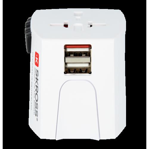 Фото Сетевой фильтр SKROSS World Adapter MUV USB (1.302930) White