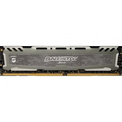 Фото ОЗУ Crucial DDR4 8GB 3200Mhz Ballistix Sport LT Gray (BLS8G4D32AESBK)