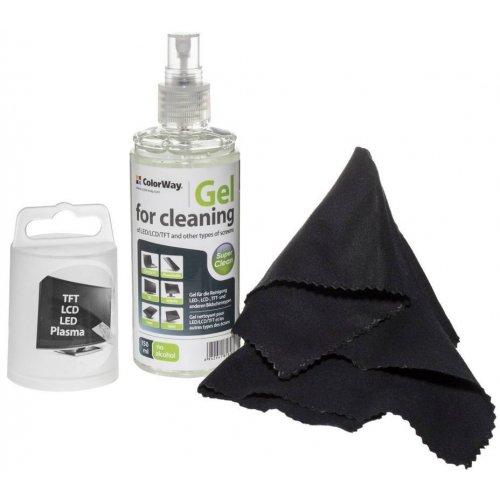 Фото Набор для чистки ColorWay 2 in 1 Cleaning Kit Screen Cleaning Gel 150ml (CW-5151)