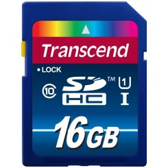 Фото Карта памяти Transcend SDHC 16GB Class 10 UHS-I Premium 300X (TS16GSDU1)