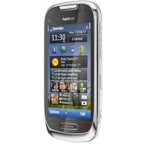 Фото Мобильный телефон Nokia C7-00 Frosty Metal