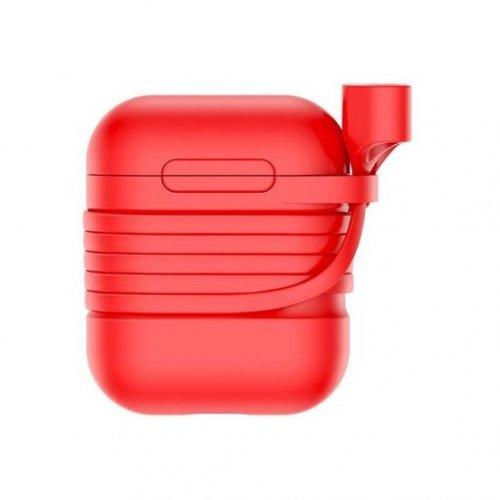 Купить Наушники, Baseus Case for AirPods (TZARGS-09) Red