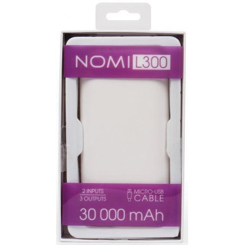 Фото Внешний аккумулятор Nomi L300 30000mAh (430683) White